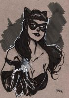Rockabilly Catwoman sketch by DenisM79