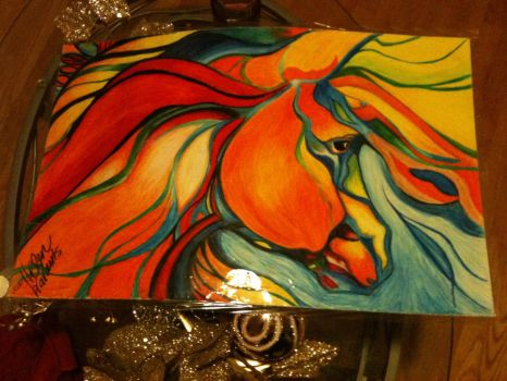 Horse Abstract. by fearless-art