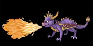 Spyro Breathing Fire by pancakesandhalibut