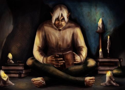 Story Time With Fenris by AmandaRamsey