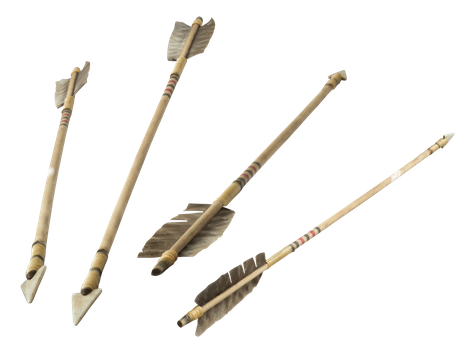 4 more old indian arrows by Archangelical-Stock