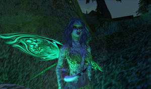 Xami in a green glow by TERABBS