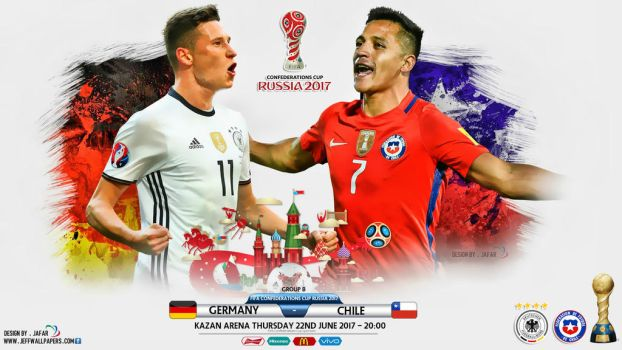 GERMANY - CHILE CONFEDERATIONS CUP RUSSIA 2017 by jafarjeef