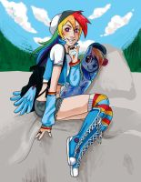Rainbow Dash Skater Girl by kchuu