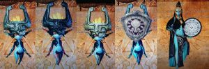 Hyrule warriors UPDATED Midna costumes by isaac77598