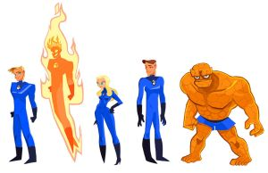 Fantastic 4 redesign by mohja