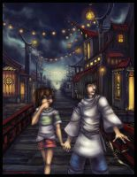 Spirited Away: Night's Bridge by Starlitdragon