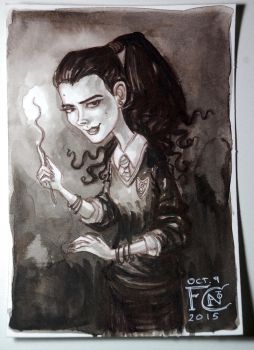 Bellatrix at Hogwarts by feliciacano