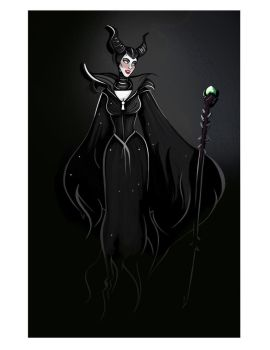 Maleficent doodle by didouchafik