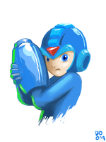 Mega Man drawing by DoomCMYK
