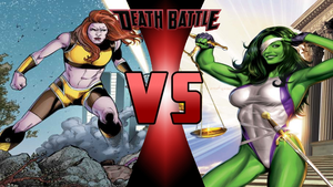 Giganta vs She-Hulk by Dynamo1212