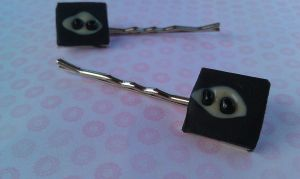 Square Ninja Bobby Pin Set by Gynecology