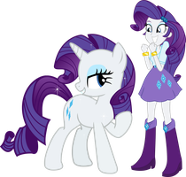 Rarity and Rarity by Vector-Brony