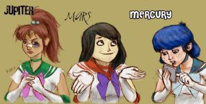 Sailor Scouts by gurgledog