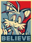 In Tails We Believe -Political Poster- by Fuzon-S