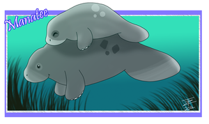 Manatee Mommy by TwistedZepher