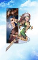 Rogue Gambit Color Print by tonyperna