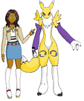 Saras and Renamon by ChronoKix