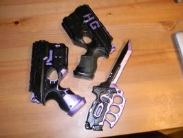 Hit Girl Props (work in progress) by jokesalot3