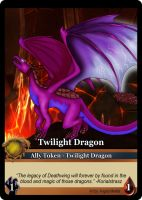 Twilight Dragon Token Card by Dawnchaser