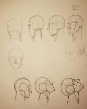 Series of heads rotating in Hogarth approach  by Vorrch