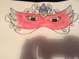 Water Colour Masquerade Mask- 1 by GothGirl28