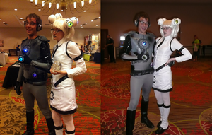 A-kon 22 - GLaDOS and Wheatley by ShinySerebii