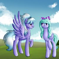 Cloudchaser and Flitter by SnowyFlames