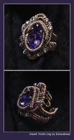 Sweet Violet ring by bodaszilvia