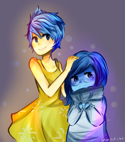 Joy and Sadness by whimsical-idiot