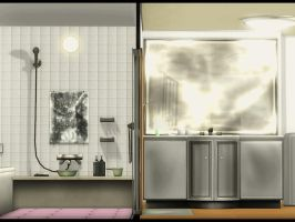 Double Bathroom by deexie