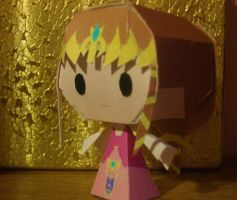 Chibi Zelda Papercraft by AnimeGang