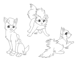 Dog Pokemon - Linearts
