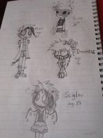 New ocs of 3/12/13 by Xloupie
