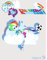 Equestria Girls Rainbow Dash by Arteses-Canvas