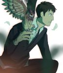 Bertholdt being majestic with an owl by longestdistance