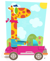 ::Giraffe Car:: by shimmyshammy