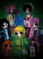 happy halloween crossover tnx for 373 watchers!!! by NENEBUBBLEELOVER