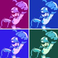 Megaman pop art 8 by DevintheCool