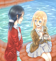 Ymir and Christa by aoi-purin