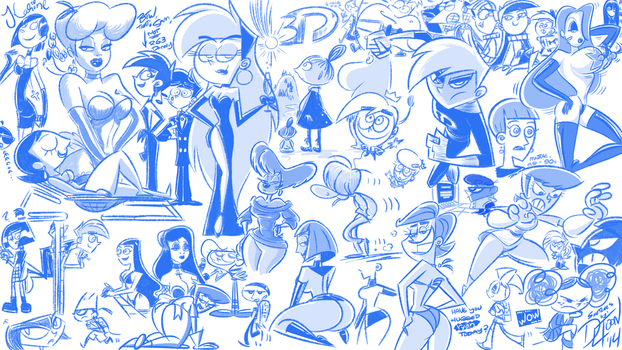 Doodles, May/June 2014 by DLToon