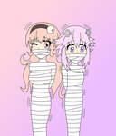 Compa and Nep Wrapped by InkuSensei