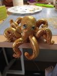 Gold Brown and Bronze Octopus by xlightangelwolfx