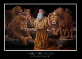 Daniel in the Lion's Den by EmersonLFreeseJr