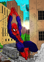 Spiderman In Color by Dhencod