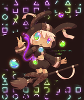 Bunny Witch by chicinlicin