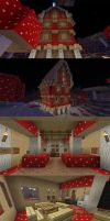 ShroomVille Mansion by chickenmobile