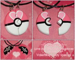 Pokemon Love Ball Friendship Necklace I Choose You by YellerCrakka