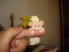 A wild Growlithe appeared in my finger by AlexandreSerra