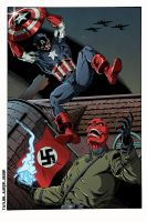 Captain America vs Red Skull colors by BDixonarts